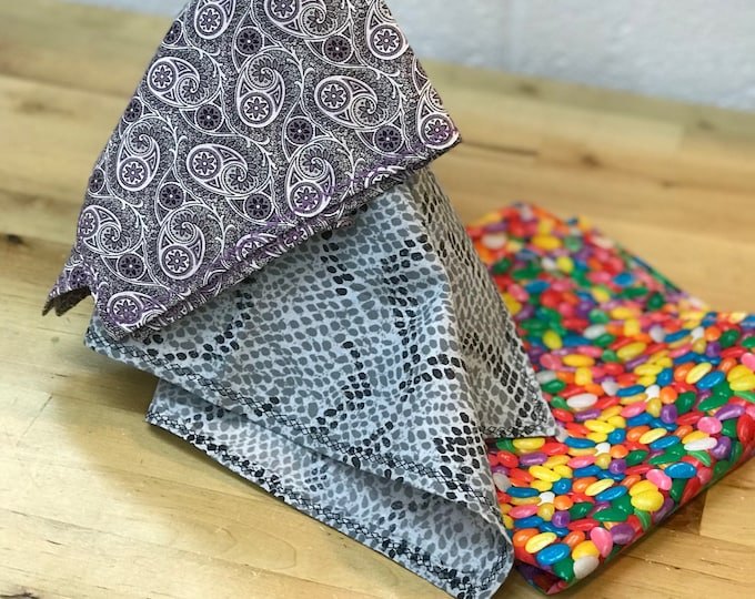 Jellybean Scarf, Easter Pocket Square, Men's Fashion Pocket Scarf, Father's Day Gift