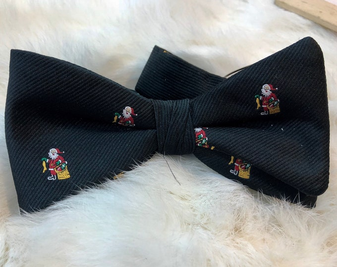 Christmas Bow Tie, Ugly Christmas Party Outfit, Holiday Santa Claus Bowtie