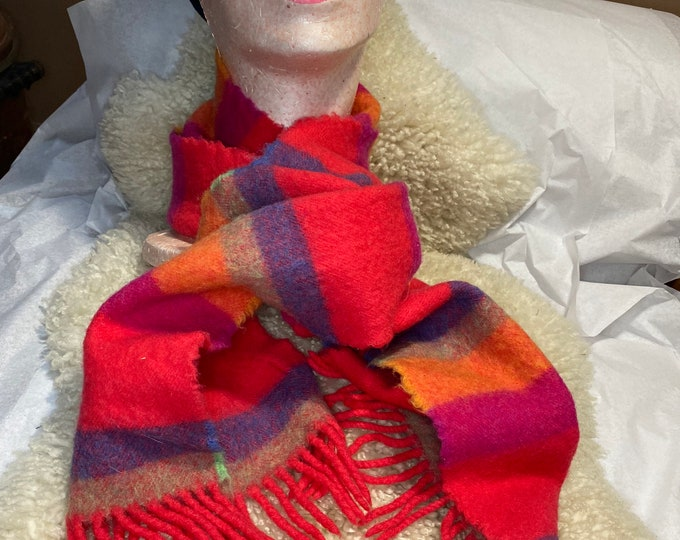 Unisex Colorful Scarf, Merino wool scarf, Irish wrap