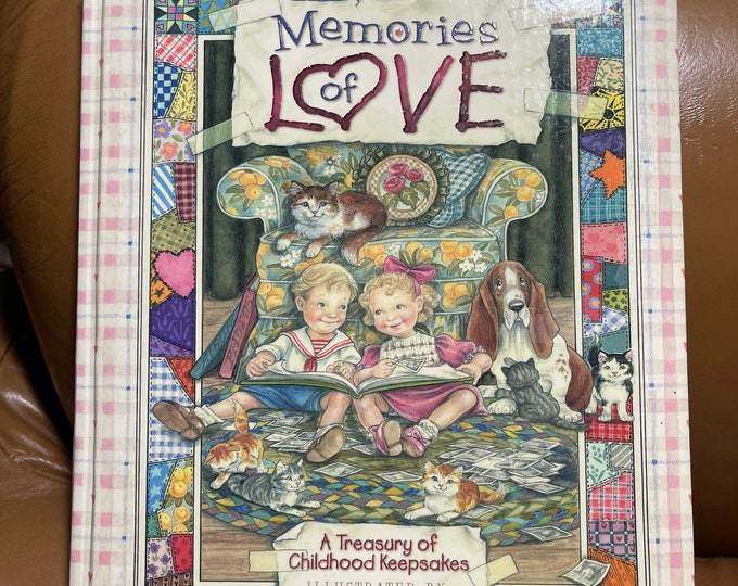 Memories of Love Book, Childhood Keepsake Hardback, Baby Shower Gift