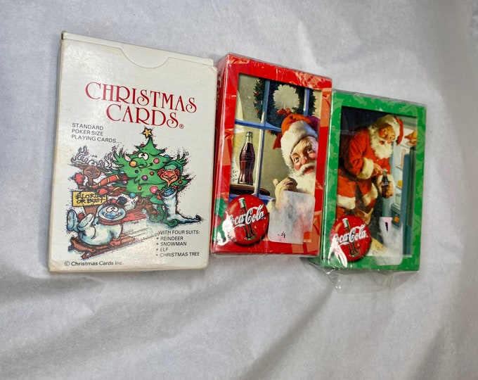 Christmas Card Games, Coke Santa Claus Standard Cards