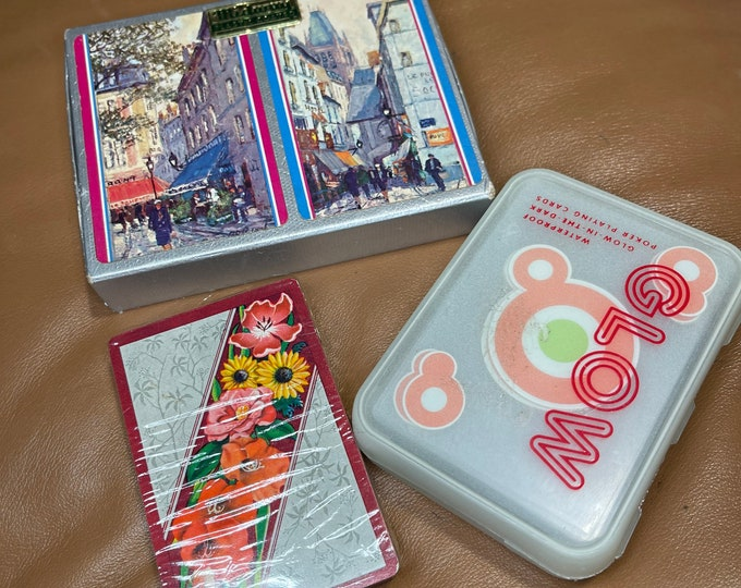 Standard Deck of Cards, Lot of vintage playing cards, glow in the dark card set