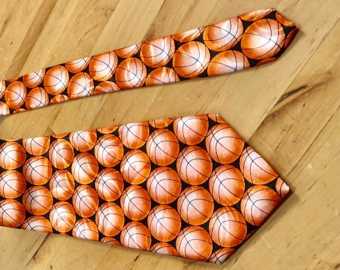 Basketball Necktie, Father's Day Gift, March Madness Tie