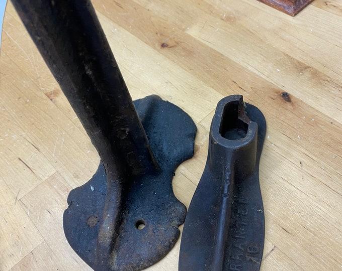 Black Cast Iron Shoe Mold, Cobbler Rustic Shop Decoration, Vintage Shoe Tool