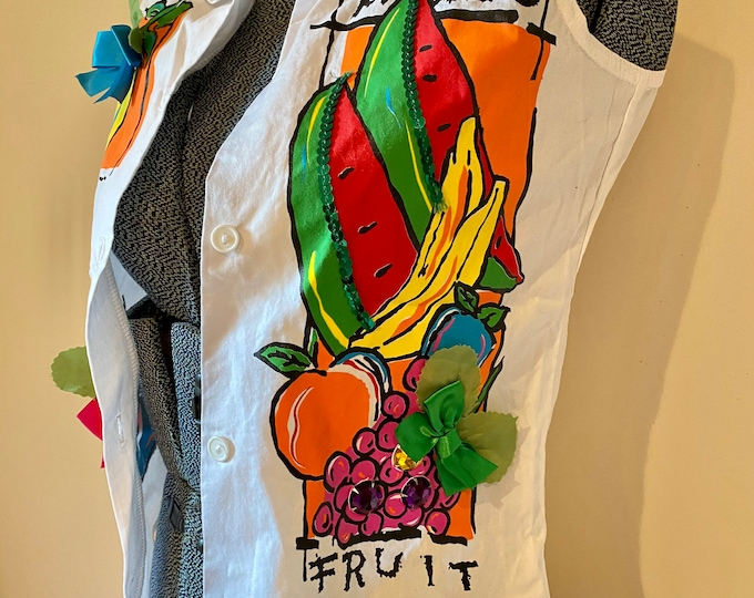 Girl's summer Shirt, Chiquita Party blouse, colorful child's top