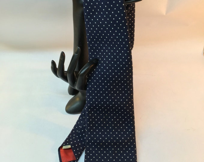Polka dot necktie, blue and red tie, gift for him