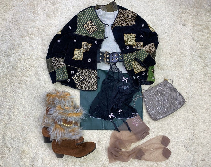 Autumn Fall Fashion, Leopard Patchwork Jacket, boho fashion