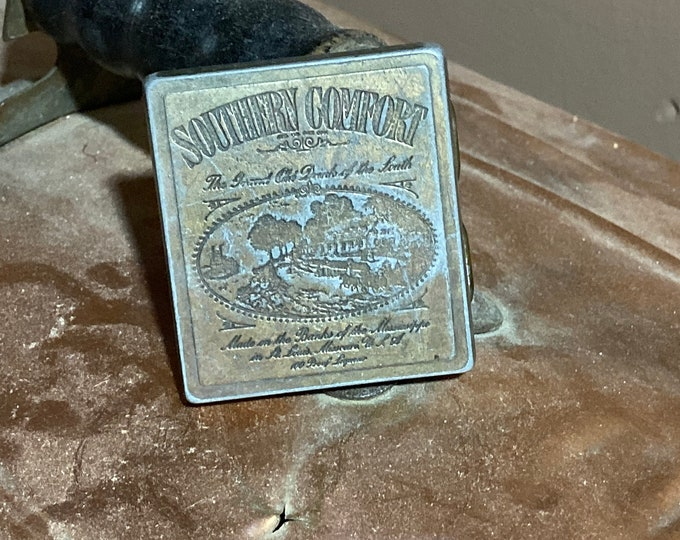 Southern Comfort Belt Buckle, Vintage Grand Old Drink Of The South Buckle - Country  Western Cowboy Buckle