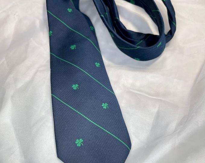 Saint Patrick's Day Necktie, Shamrock Tie, Lucky Necktie