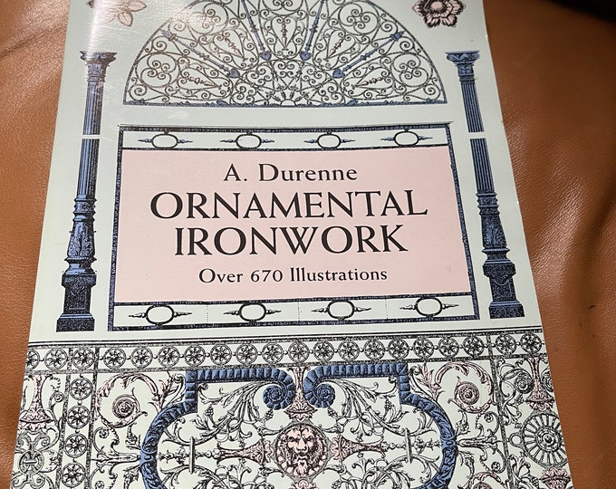 Ornamental Ironwork Book, Original Iron Project Drawings, Vintage Iron Work Illustrations