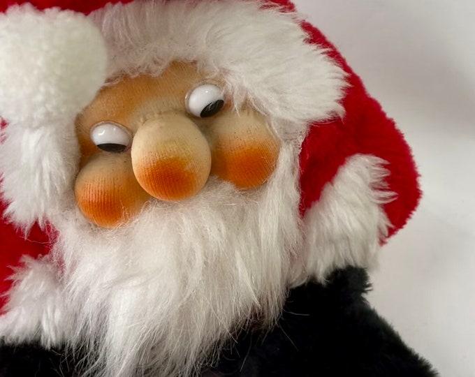 Santakins Retro Santa Claus, Christmas Stuffed Old Saint Nick, Rennoc Corporation Holiday Toy