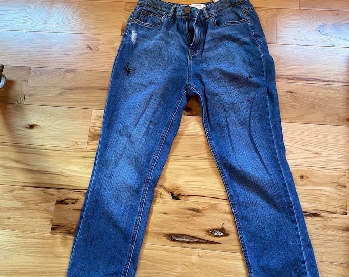 Women's blue jeans, French denim ladies pants