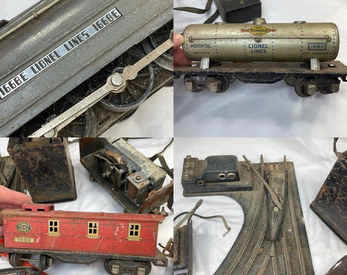 Lionel Antique Train Cars, Antique Lionel Parts Electronic Train, Collectible Lionel