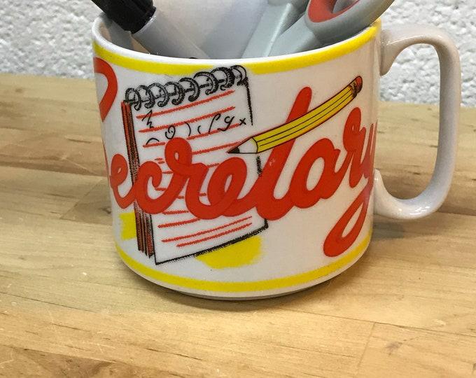 secretary cup, secretary's day gift mug, office party gift