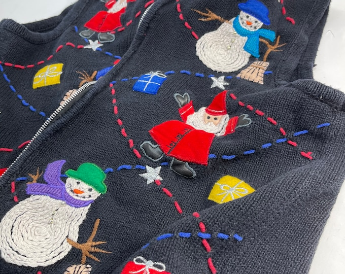Christmas Vest, Holiday Ugly Sweater Party, Unisex Vest