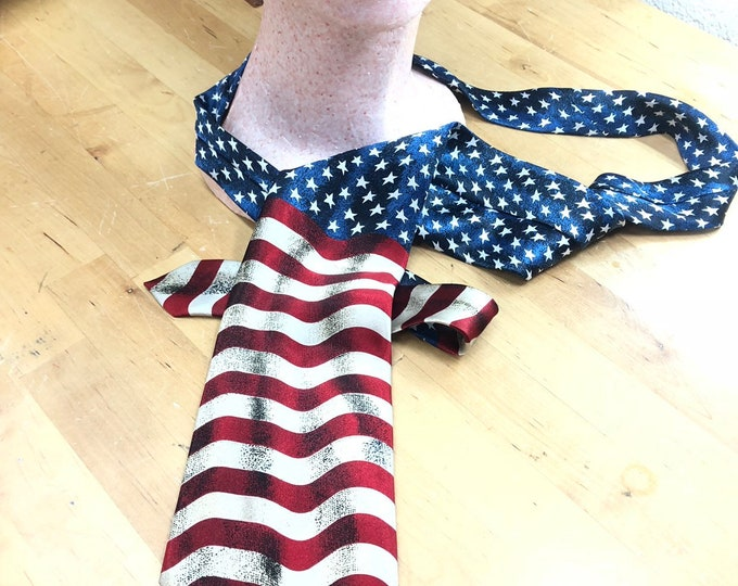 United States Necktie, Stars and Stripes Tie, American Flag for Him