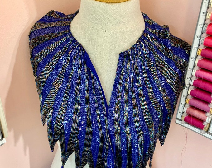 Hand Beaded Collar, Formal Fashion Shawl