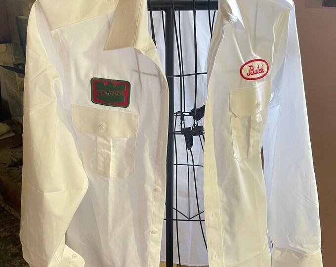 Vintage Work Shirt, Retro Workman's Shirt, Falcon Gas Station Uniform
