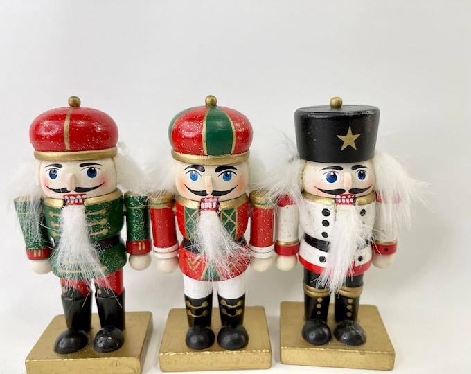 Christmas Holiday Nutcrackers, Nutcracker Suite Miniature Soldiers Set, Collectible Nutcrackers