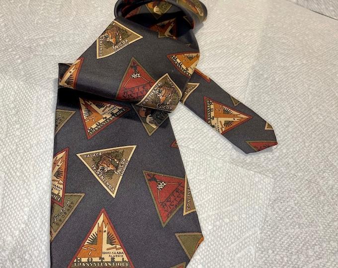 Tom James Necktie, Vintage Silk Men's Tie, Handmade Neckwear