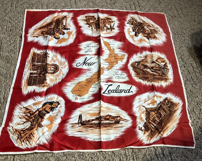 New Zealand Scarf, New Zealand Wrap Vintage Souvenir