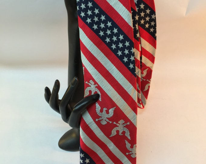 4th of July Necktie, Stars And Stripes USA