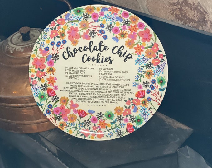 Chocolate Chip Cookies Plate, housewarming gift, gift for anyone
