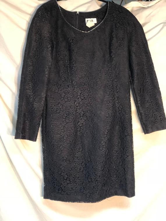 Black Lace Vintage Dress, Little Black Dress, Fune