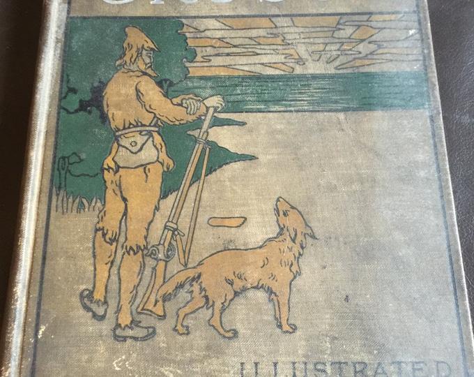 Robinson Crusoe Antique Book, Collectible Hard Back Book