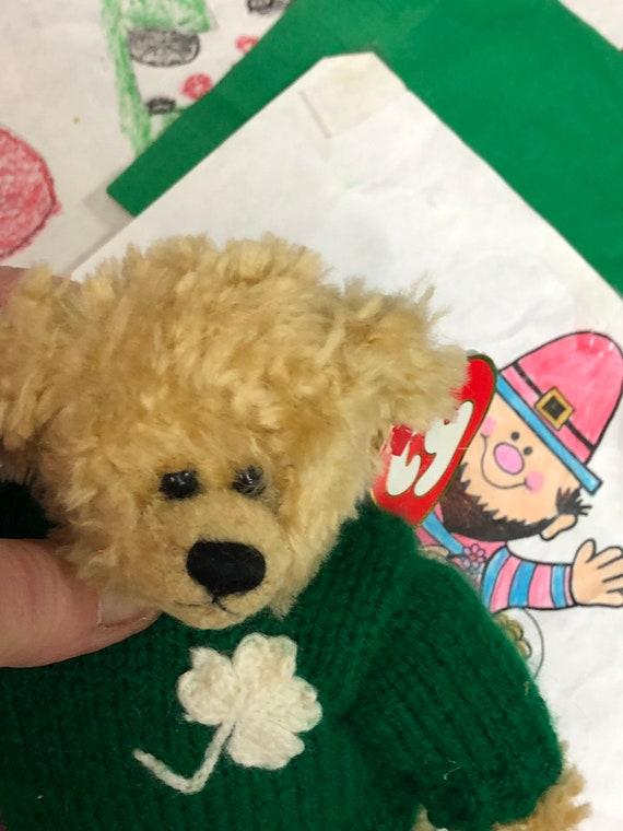 Blarney Beanie Baby Bear Kiss Me I m Irish St.  96a9b6b5b72e