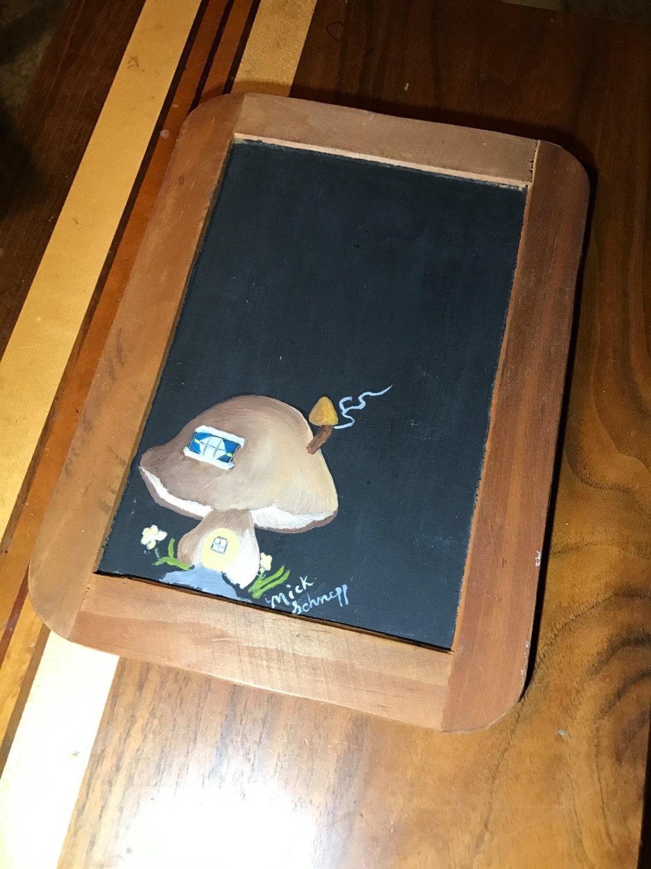 mini memo board kitchen message board Message Chalk Board Mushroom