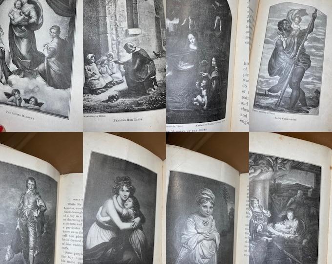 Antique Hardback Book, Famous Pictures of Children 1907 Julia Augusta Schwartz