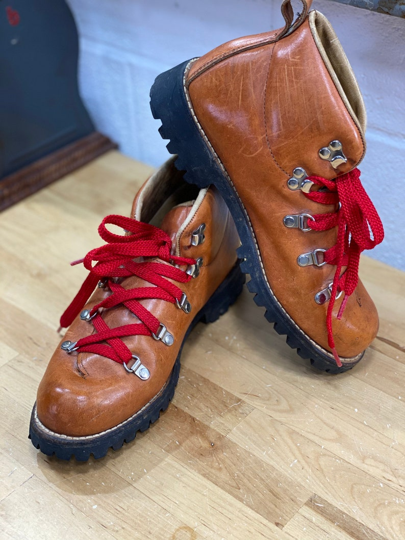 Leather Red Lace Hiking Boots Wood N Stream Ankle Boot image 1