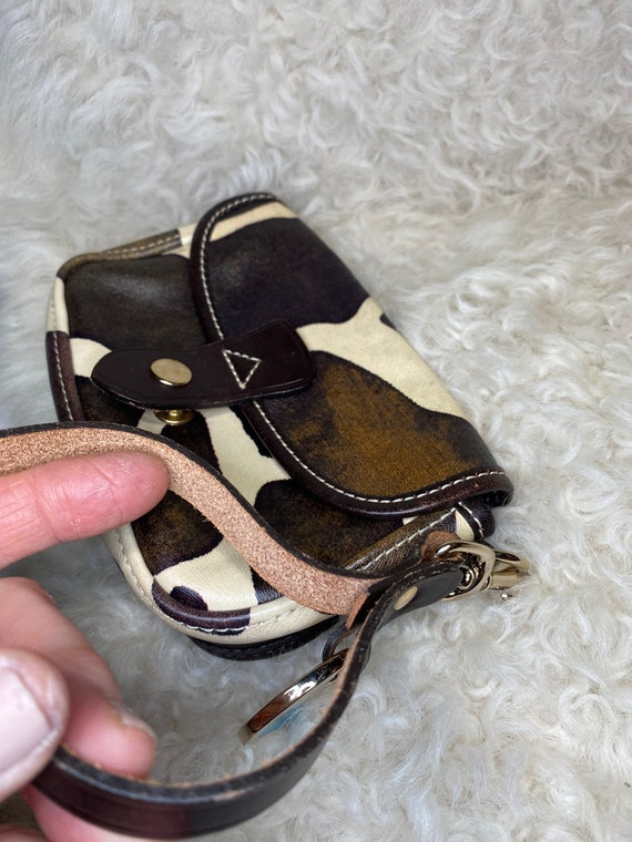 Cow Print Handbag, leather cowgirl wristlet, Count