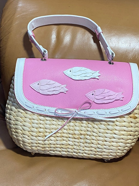 reserved for CYNTHIA  Fish Purse, Cappelli Strawo… - image 7