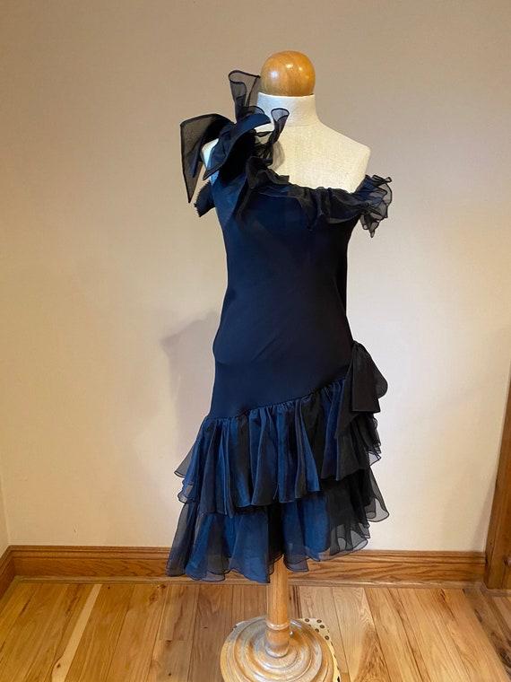 Formal Black dress, vintage funeral dress, black t