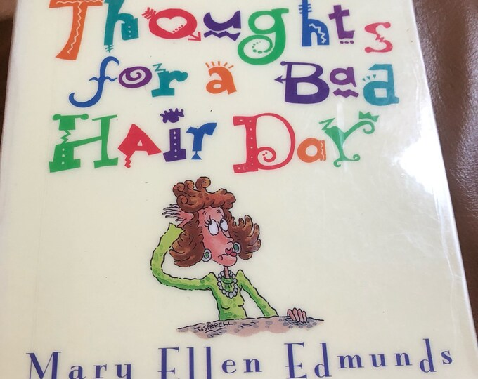 Mother's Day Gift, Humor Book Thoughts for a Bad Hair Day, Funny Book for Friend