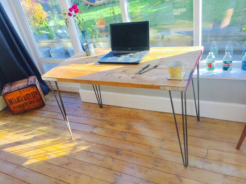 Industrial desk scaffold desk reclaimed wood desk image 0