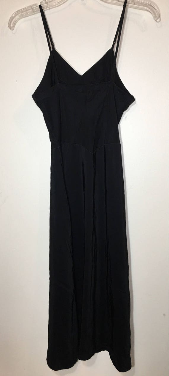 Vintage 40s 50s Seamprufe Brand Black Full Slip - image 3