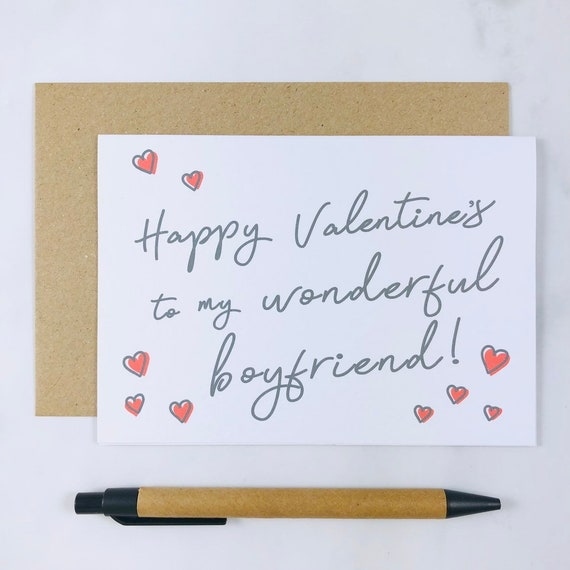 To valentines boyfriends card what on write What can