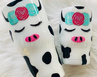 Mommy and Me Cow Set