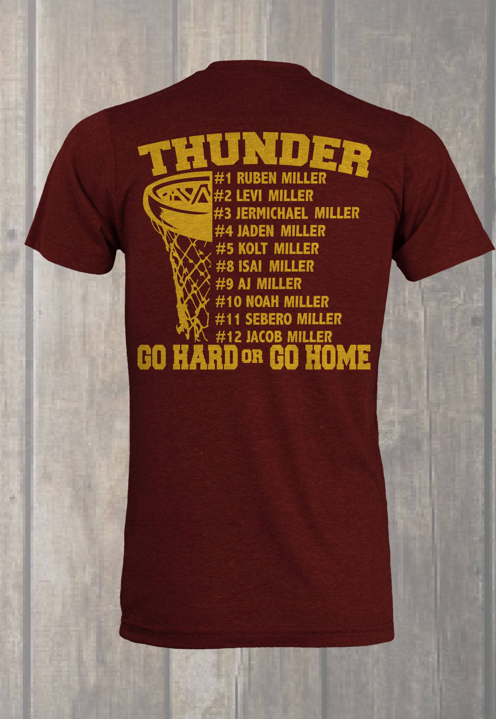 Custom Basketball Roster T Shirt Design Etsy