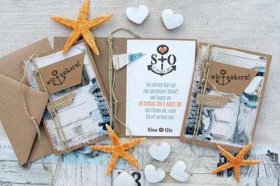 Hochzeitseinladung Maritim Nautical Individualisierbar Etsy