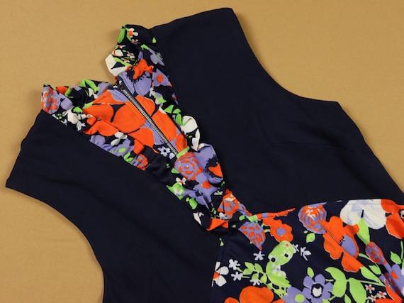 Vintage 1970s Floral mini Dress, handmade - image 6