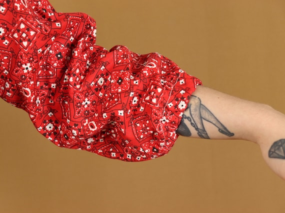 Cowgirl bandana mini dress, 1970s vintage - image 5