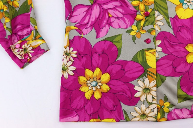 Funky floral 1970s shirt