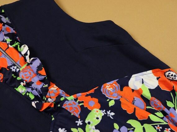 Vintage 1970s Floral mini Dress, handmade - image 7
