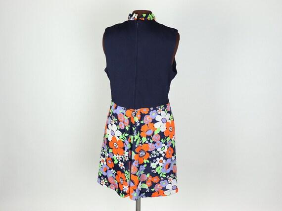 Vintage 1970s Floral mini Dress, handmade - image 3