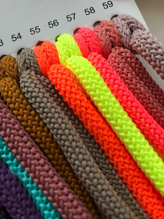 Macrame 6 mm cord Strong polyester rope Textile soft macrame cord 109 yard Soft colored rope Braided nylon strong cord 100 meter Macrame