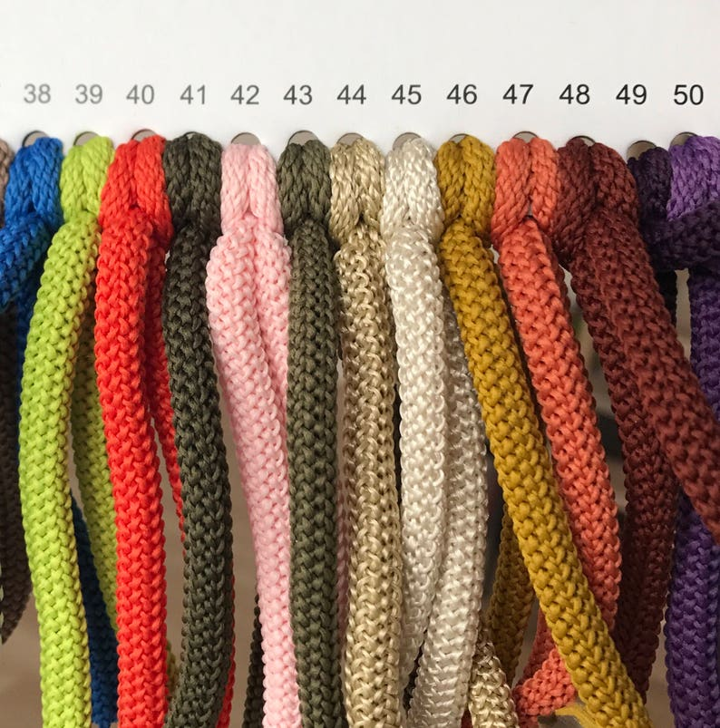 Polyester rope colored Rope 6mm soft cord Macrame strong image 0